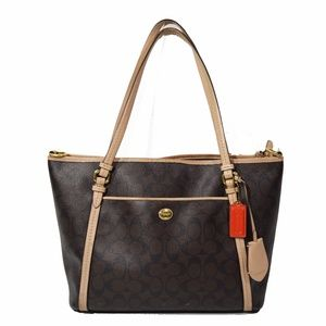 COACH Peyton Signature Pocket Tote Bag Purse